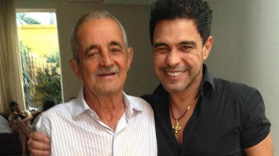 Zezé di Camargo e o pai, Francisco (Foto: Reprodução) - Reprodução