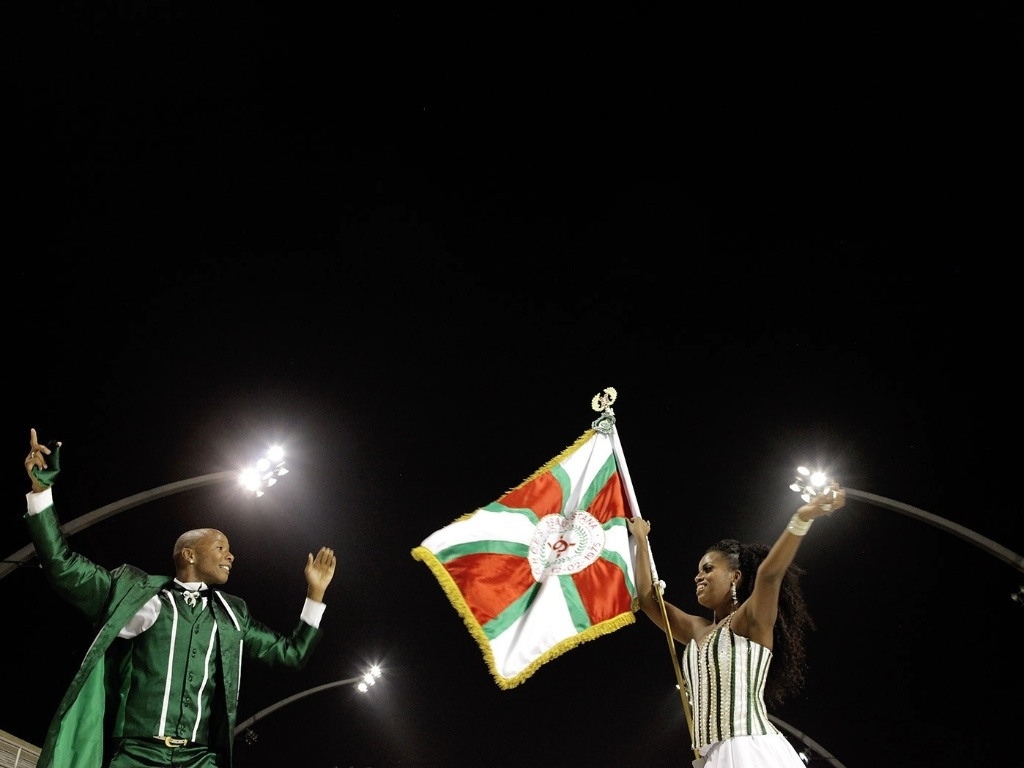 5.jan.2013 - 5.jan.2013 - A escola que inaugurou a passarela do samba para o primeiro ensaio técnico deste ano foi a X-9 Paulistana, e o