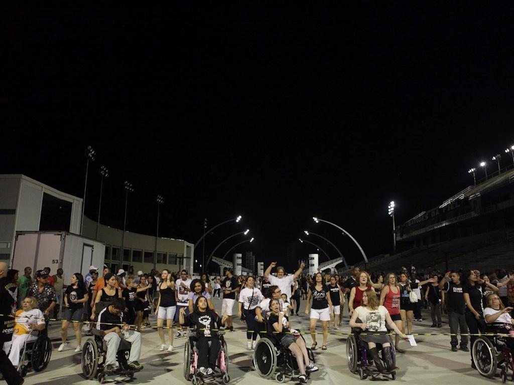 5.jan.2013 - A Gaviões da Fiel ensaiou com o enredo