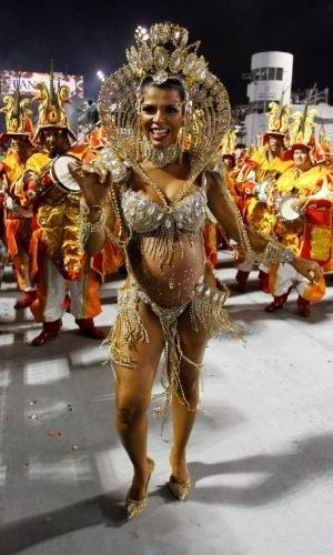 9.fev.2013 - O Grêmio Recreativo Cultural Escola de Samba X-9 Paulistana foi fundado em 12 de fevereiro de 1975, no bairro da Parada Inglesa, Zona Norte de São Paulo