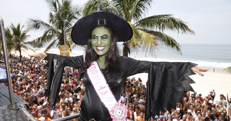 9.fev.2013 - A atriz se inspirou na Bruxa má do Oeste, personagem do