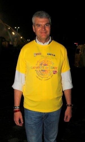 08.fev.2013 - Marcelo Rehder, presidente da SPTuris, aparece no Camarote da Cidade, no Sambódromo do Anhembi