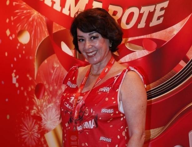 10.fev.2013 - A atriz Nívea Maria foi uma das primeiras a chegar no Camarote Brahma