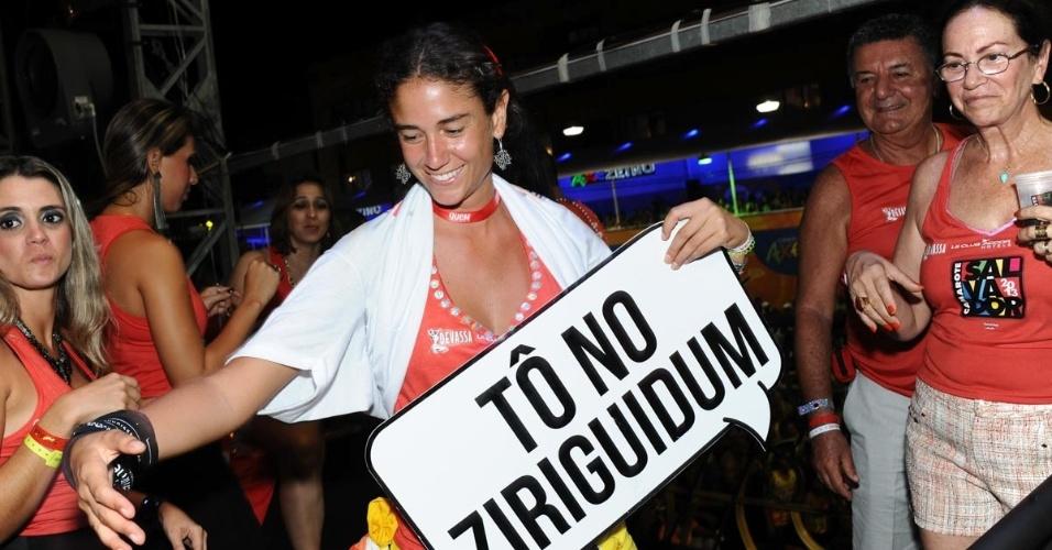 9.fev.2013 - Mariana Cezar Coelho no Camarote Salvador