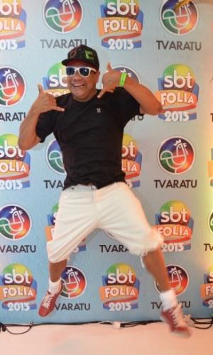 10.fev.2013 - Liminha aproveita Carnaval em espaço vip do SBT no camarote de Daniela Mercury