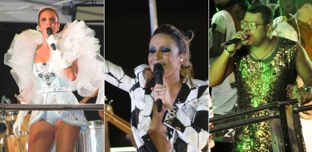 11.fev.2013 - Músicas de Ivete Sangalo, Claudia Leitte e dos Filhos de Jorge estão na disputa pelo título de hit do Carnaval 2013 em Salvador