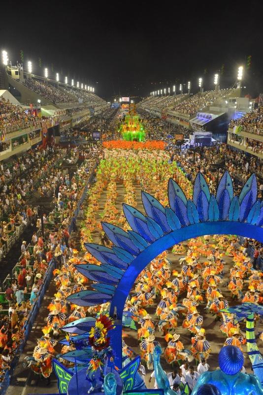 11.fev.2013 - O enredo da Portela em 2013 é dedicado aos 400 anos de Madureira, bairro no subúrbio que abriga a quadra da agremiação que foi fundada há 90 anos