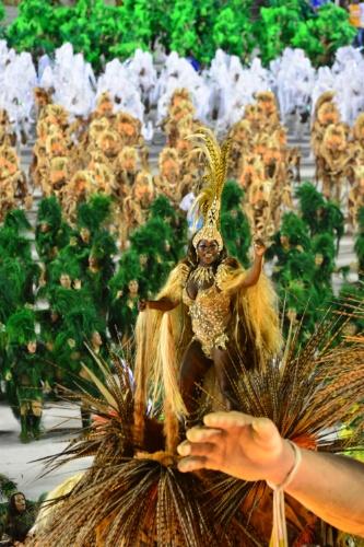 """11.fev.2013 - A escola Beija-Flor desfila no sambódromo do Rio; escola desfilou com o enredo """"Amigo Fiel, do cavalo do amanhecer ao Mangalarga Marchador"""""""