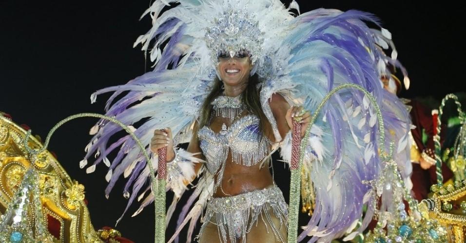 11.fev.2013 - Nicole foi uma das musas do carnaval da Beija-Flor, que ainda contou com nomes como Cláudia Raia e Raíssa de Oliveira