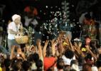 Regina Casé participa do cortejo afro na Barra-Ondina no Carnaval de Salvador - Valter Pontes/Coperphoto