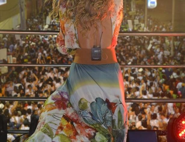 12.fev.2013 - Claudia Leitte se apresentou pela última vez no Carnaval deste ano no circuito Barra-Ondina, à frente do Largadinho, seu novo bloco