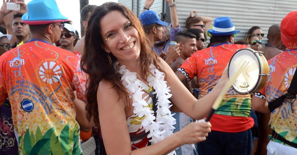 12.fev.2013 - Desfile do bloco Banda de Ipanema, que se concentrou na Praça General Osório e seguiu pela Avenida Vieira Souto, no Rio de Janeiro