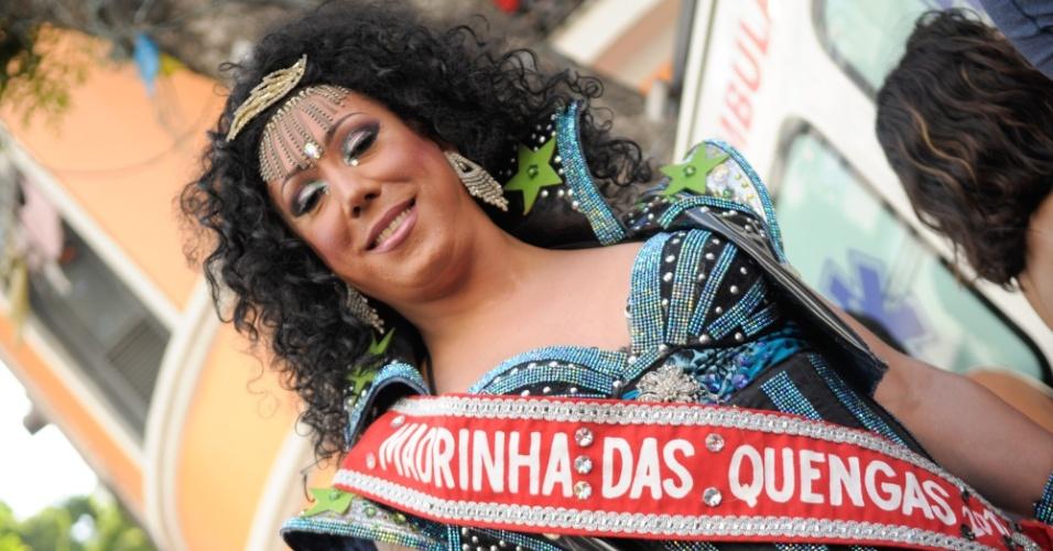 12.fev.2013 - Desfile do Bloco das Quengas durante a terça de Carnaval no Rio de Janeiro