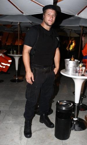 15.fev.2013 - Diego Alemão no Baile do Glamurama no MAM (Museu de Arte Moderna), no Rio de Janeiro