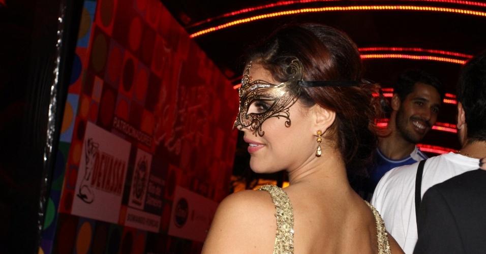 15.fev.2013 - Paloma Bernardi no Baile do Glamurama no MAM (Museu de Arte Moderna), no Rio de Janeiro
