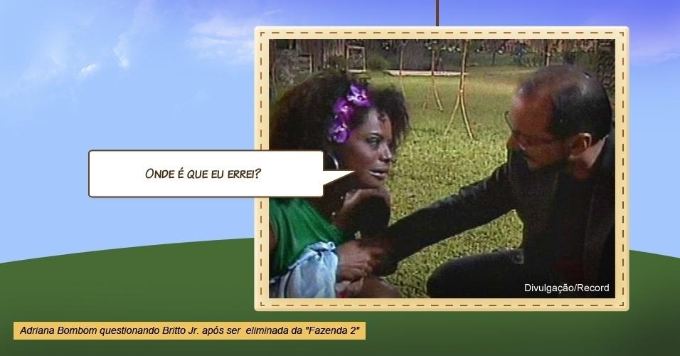 """Adriana Bombom em """"A Fazenda 2"""""""