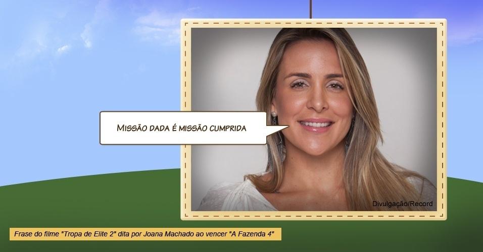 """Joana Machado em """"A Fazenda 4"""""""
