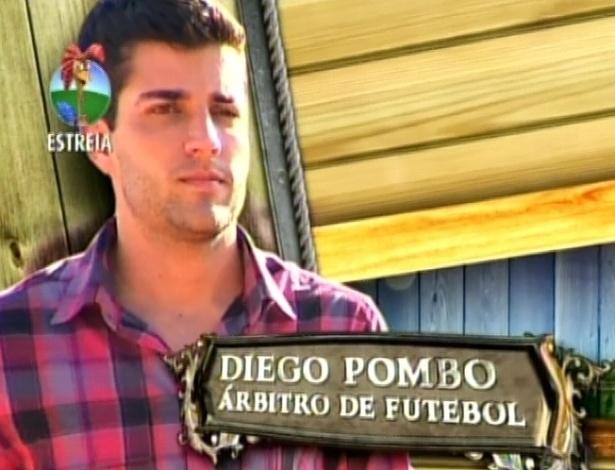 O árbitro de futebol Diego Pombo chega ao reality (29/5/12)