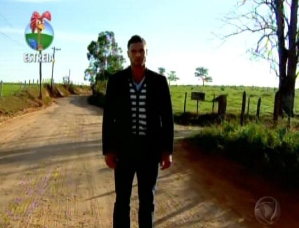 O modelo Gustavo Salyer chega à Fazenda (29/5/12)