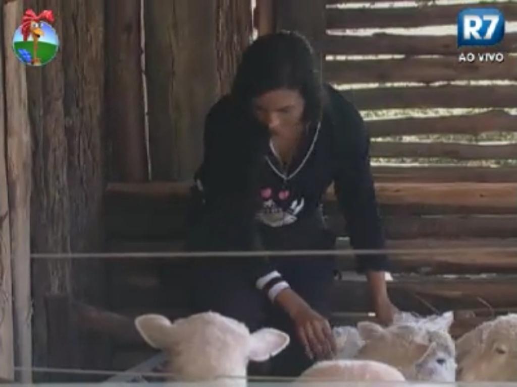 Shayene Cesário cuida das ovelhas (3/6/12)