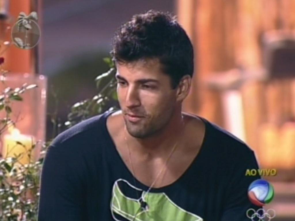 Diego Pombo foi para a roça na votação desta terça-feira (12/6/12)