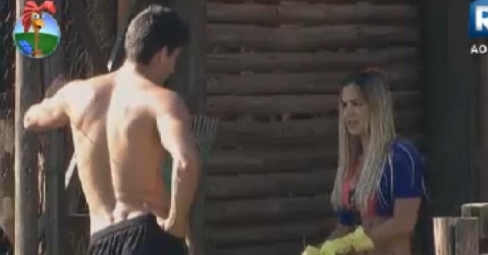 Robertha Portella pede desculpas para Diego Pombo por causa de brincadeira (15/6/12)