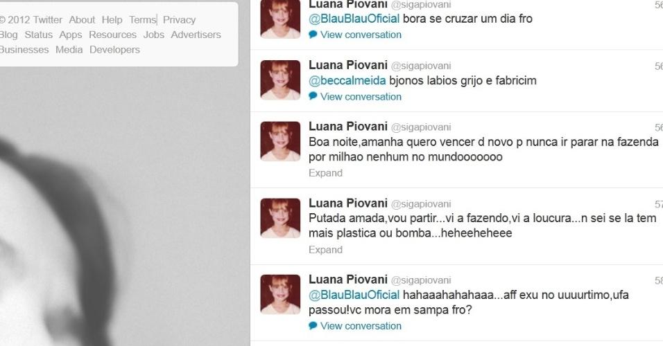 Luana Piovani faz comentários sobre