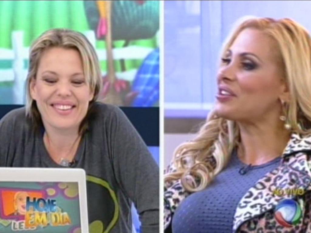 Ângela Bismarchi comenta pergunta de Lelê sobre Penélope Nova (20/7/12)