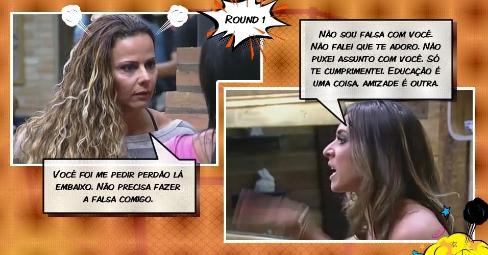 Round 1: Viviane tira satisfação com Nicole após votação (20/7/12)