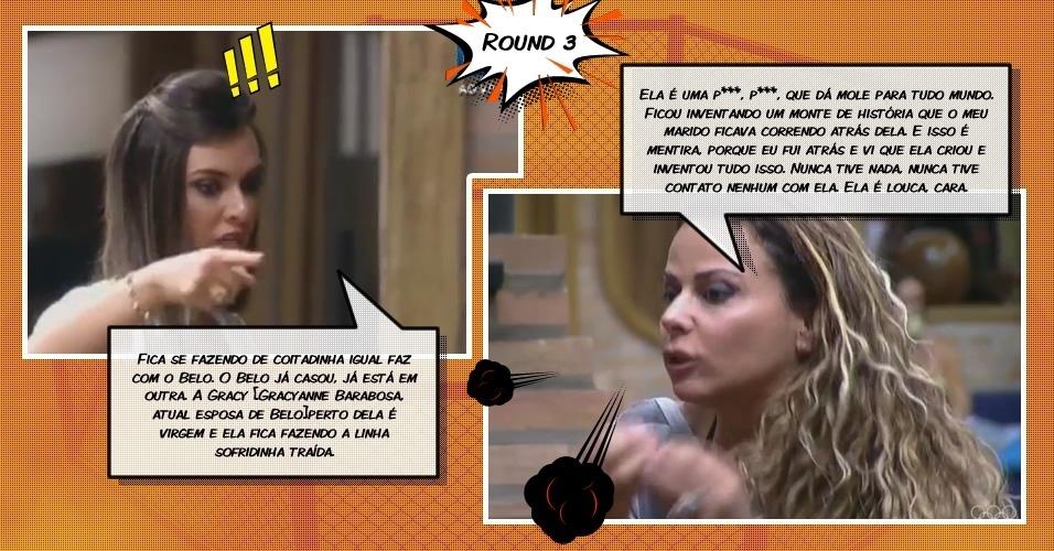 Round 3: Viviane e Nicole falam o que pensam uma da outra