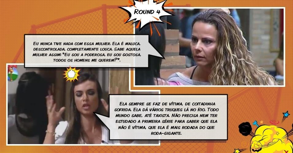 """Round 4: Nicole Bahls e Viviane Aráujo trocam ofensas em """"A Fazenda 5"""""""