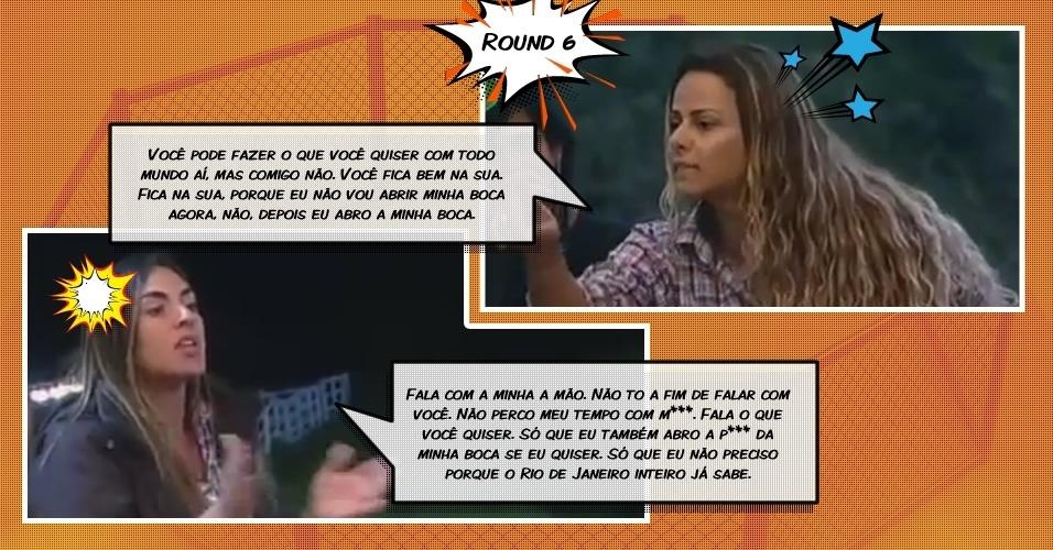 Round 6: Durante briga no celeiro, Viviane e Nicole gritam ofensas uma para a outra