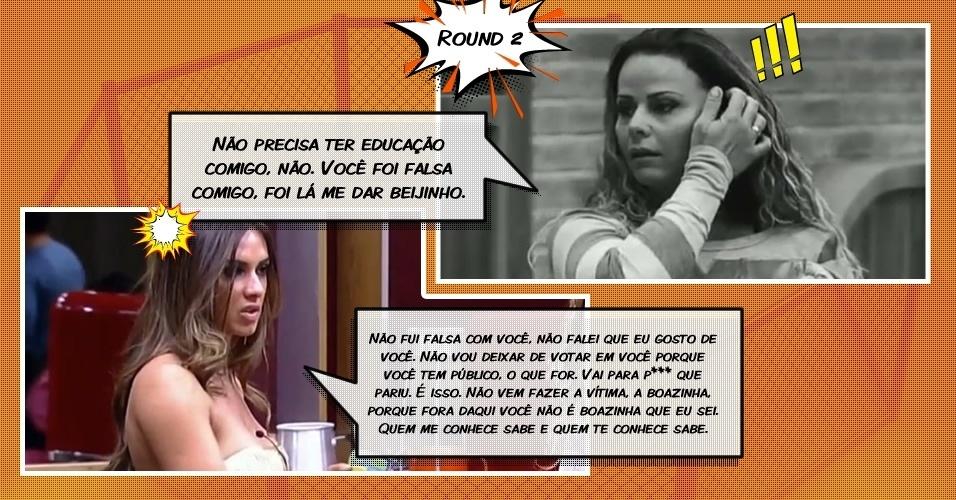Round 2: Nicole se irrita com Viviane durante discussão após ser chamada de falsa