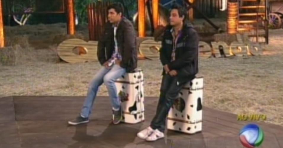 Vavá e Diego aguardam o resultado da sétima roça de