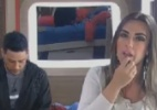"""Théo Becker torce para Nicole Bahls e a chama de """"linda guerreira"""" - Reprodução/ Record"""