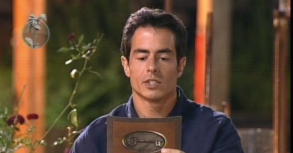 Felipe Folgosi revela o primeiro segredo do poder da chave e indica Simone Sampaio para a roça (14/8/12)