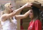 Nicole Bahls é a nova fazendeira; Simone e Felipe se enfrentam na roça - Reprodução/Record
