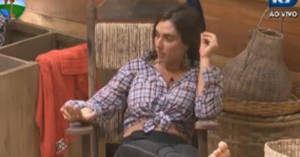 Nicole Bhals conta sobre sua relação com o terapeuta para Felipe Folgosi (25/8/12)