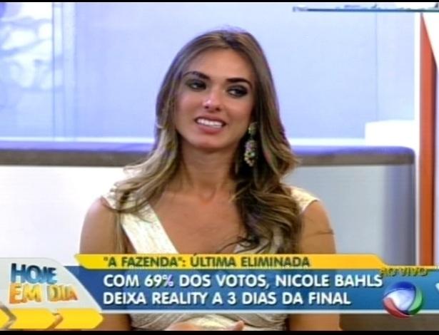 Nicole bahls participou do programa