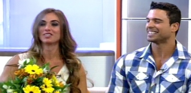 Nicole Bahls reencontra Gustavo Salyer no programa