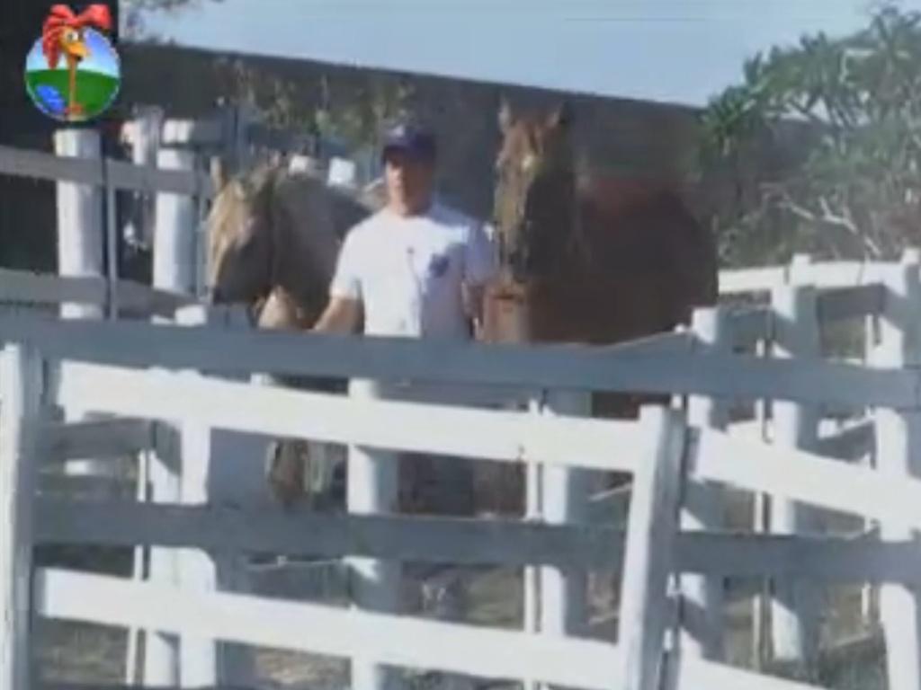 Felipe Folgosi cuida dos cavalos do reality pela última vez (28/8/12)