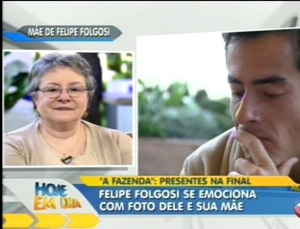 Felipe Folgosi se emociona ao receber presente da mãe (29/8/12)