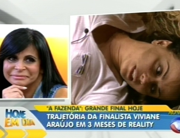 "Gretchen defende Viviane Araújo no programa ""Hoje em Dia"" (29/8/12)"