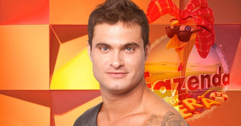 O DJ paulista Leandro Kloppel, novo integrante do reality show