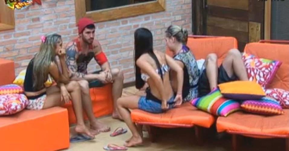 Thyago, Rodrigo, Isis, Flávia e Gabriela