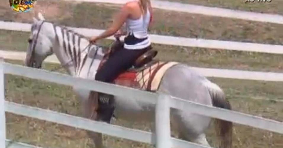 Bianca no cavalo