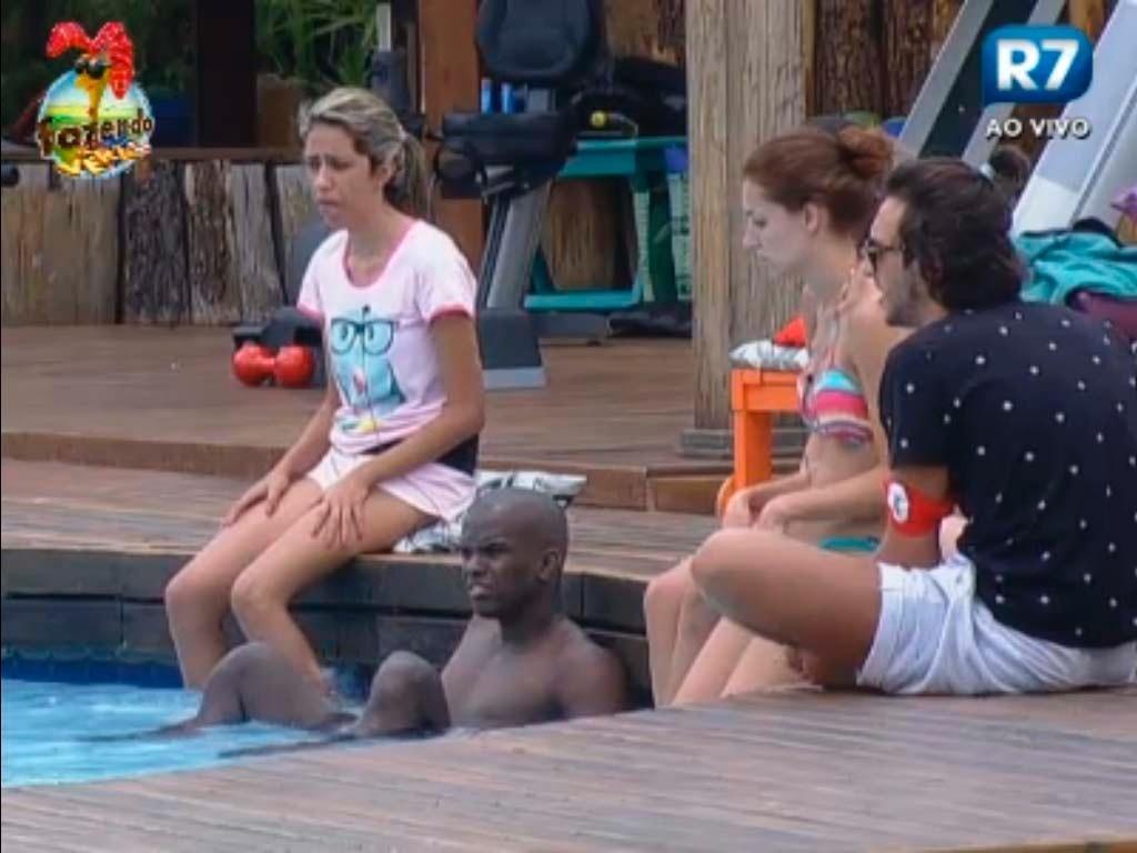 Haysam, Claudia, Raphael e Gabriela