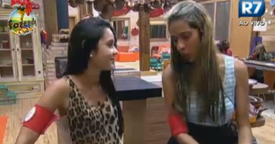 Flavia e Gabriela elogiam Dan na tarde desta terça-feira (13)