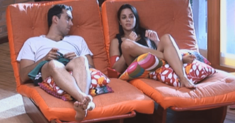 Rodrigo Carril e Flavia conversam sobre a Roça