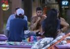 Peões riem de Sacramento após confusão do peão em votação ao vivo - Reprodução/Record